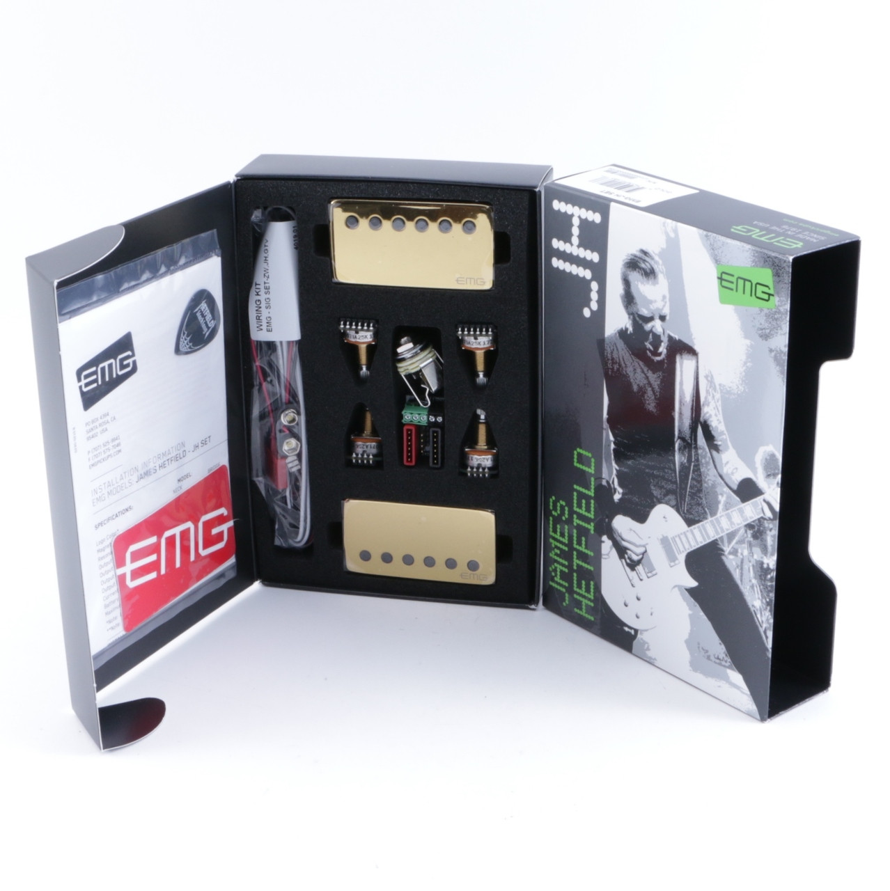 Emg 1 Or 2 Pickup Gibson Style Complete Active Wiring Kit Solderless