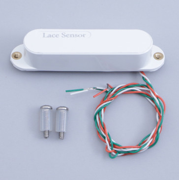 Open Box Lace Sensor Silver Single Coil Guitar Pickup White Cover