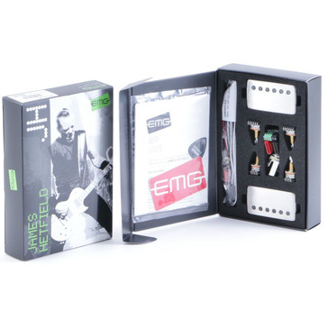 EMG Metal Works James Hetfield Active Pickup Set Brushed Chrome