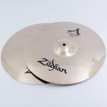 "Zildjian A Custom 14"" Hi-Hat Cymbal Pair"