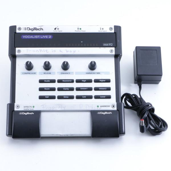 digitech vocalist live 2 vocal multi effects pedal power supply p 05979. Black Bedroom Furniture Sets. Home Design Ideas