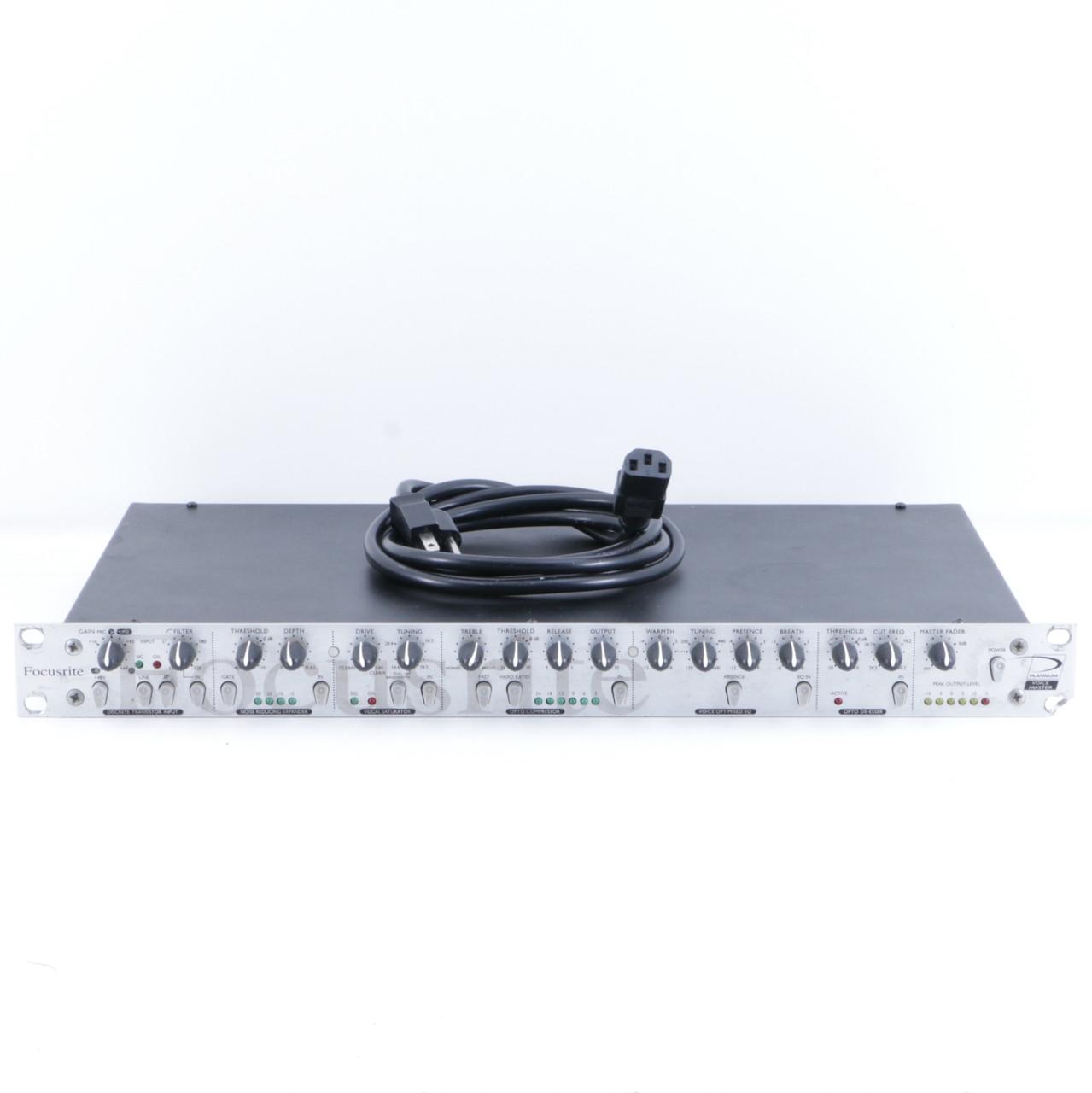 focusrite platinum voicemaster vocal rack effects unit power supply p 06288. Black Bedroom Furniture Sets. Home Design Ideas