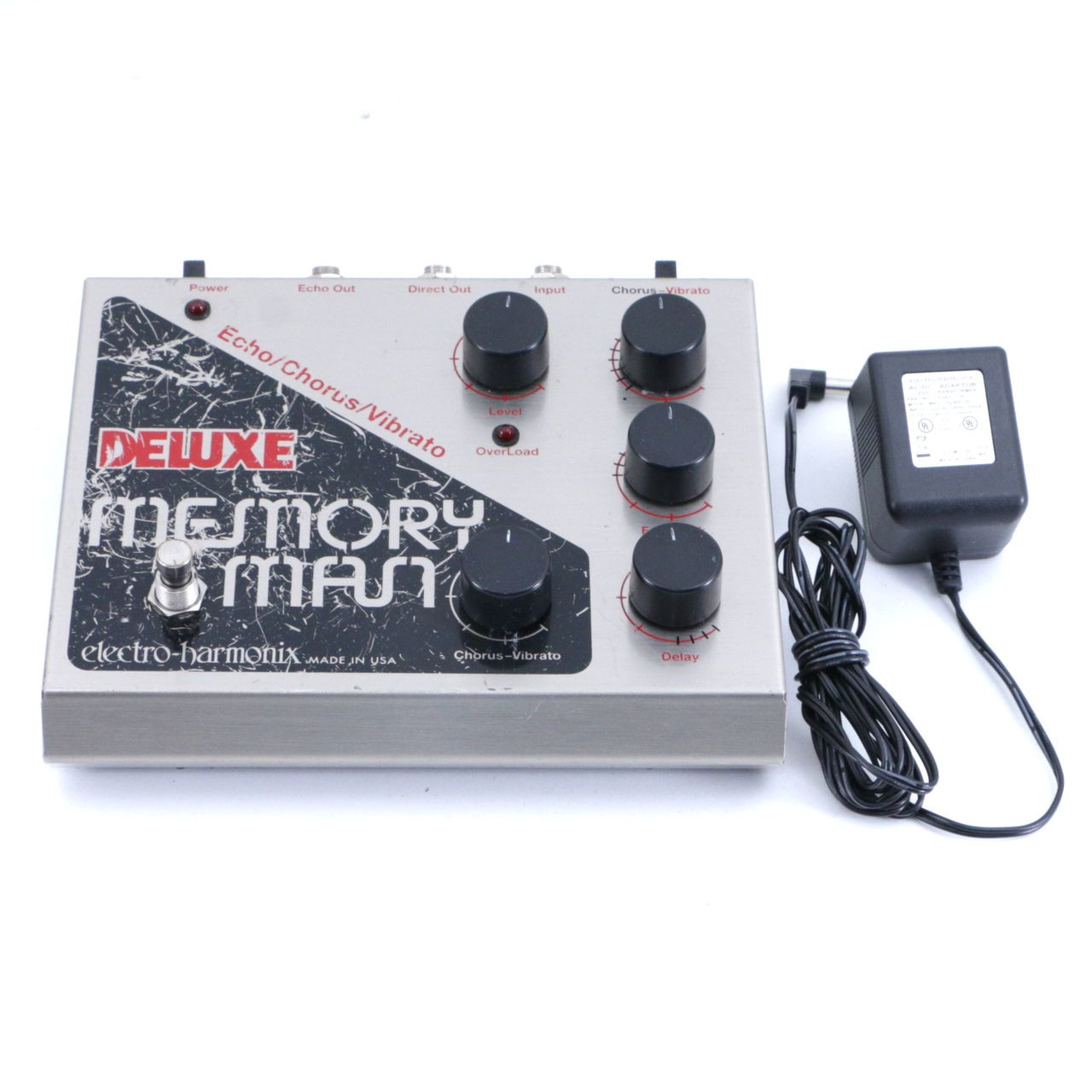 electro harmonix deluxe memory man delay guitar effects pedal p 06778. Black Bedroom Furniture Sets. Home Design Ideas