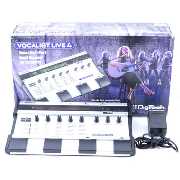 Digitech Vocalist Live 4 Vocal Multi-Effects Pedal & Power Supply P-06994
