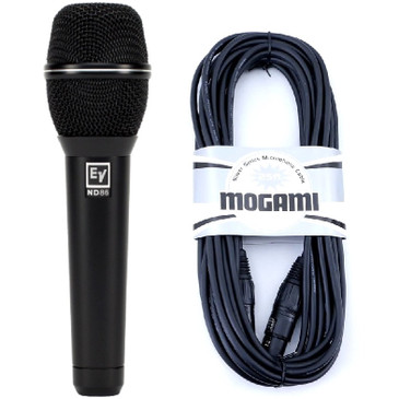 Electro-Voice ND86 Dynamic SuperCardioid Microphone With Mogami 25' XLR Cable