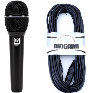 Electro-Voice ND76 Dynamic Cardioid Microphone With Mogami 25' XLR Cable