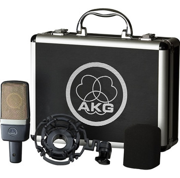 New AKG C214 Studio Condensor Mic w/mount, case C-214 Factory Sealed Retail Box