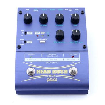 Akai Professional E2 Head Rush Delay / Looper Guitar Effects Pedal P-07093