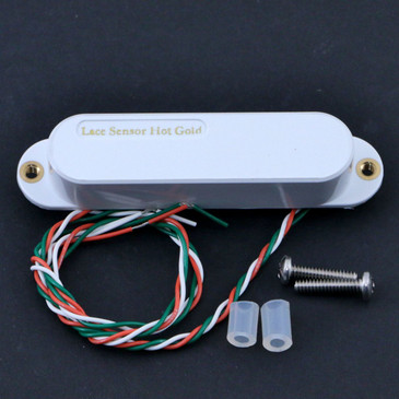 Open Box Lace Sensor Hot Gold Mid/Neck  Single Coil Guitar Pickup White Cover