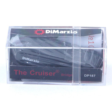 Dimarzio DP187 Cruiser Bridge Single Coil Pickup Black Cover
