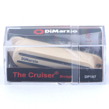 Dimarzio DP187 Cruiser Bridge Single Coil Pickup Cream Cover