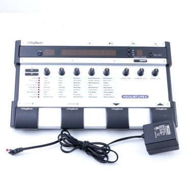 Digitech Vocalist Live 4 Vocal Multi Effects Pedal & Power Supply P-07212