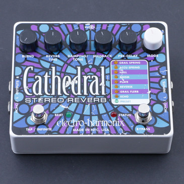 Electro-Harmonix Cathedral Stereo Reverb Guitar Effects Pedal P-07300