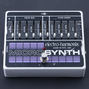 Electro-Harmonix MicroSynth Synthesizer Guitar Effects Pedal P-07312