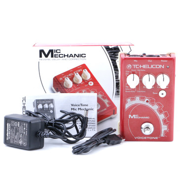 TC Helicon Voicetone Mic Mechanic Vocal Effects Pedal & Power Supply P-07630