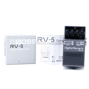 Boss RV-5 Digital Reverb Guitar Effects Pedal w/ Box P-07663