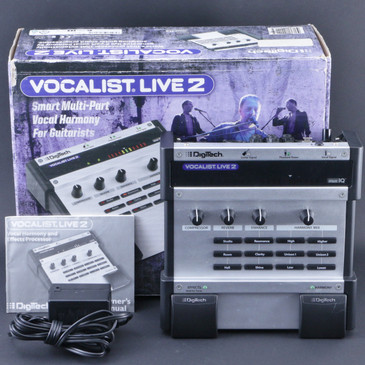 Digitech Vocalist Live 2 VL2 Vocal Effects Pedal & Power Supply P-07794