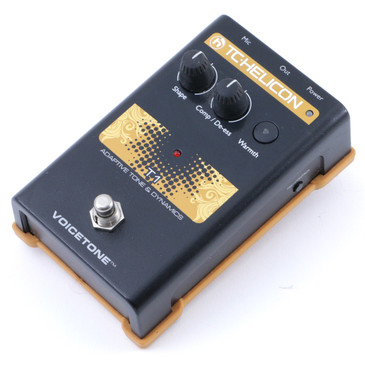 TC Helicon Voicetone T1 Adaptive Tone & Dynamics Vocal Effects Pedal P-07806