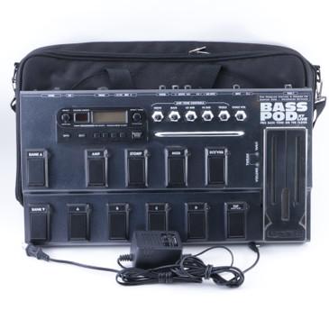 Line 6 Bass Pod XT Live Bass Guitar Multi-Effects Pedal & Power Supply P-07945
