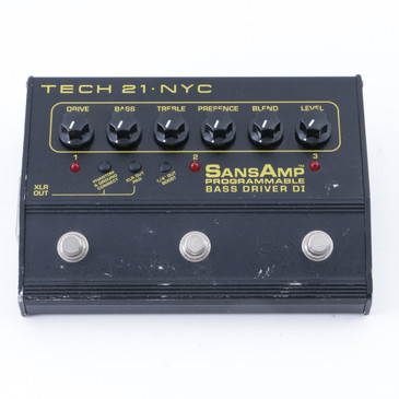 Tech 21 Programable Bass Driver Di Bass Guitar Effects Pedal P-07956