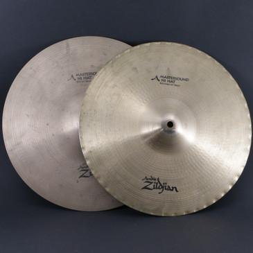 """Zildjian 14"""" A Mastersound HiHat Top & Bottom Cymbal 1080g/1522g"""