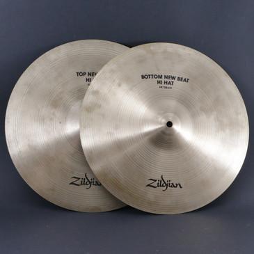 "Zildjian 14"" New Beat HiHat Top & Bottom Cymbal 956g/1232g"
