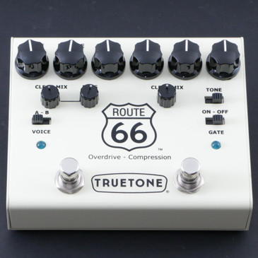 Truetone Route 66 V3 Compression / Overdrive Guitar Effects Pedal P-08192