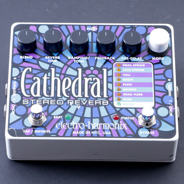 Electro-Harmonix Cathedral Stereo Reverb Guitar Effects Pedal P-08244
