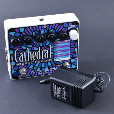 Electro-Harmonix Cathedral Stereo Reverb Guitar Effects Pedal & Power Supply