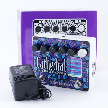 Electro-Harmonix Cathedral Stereo Reverb Guitar Effects Pedal w/ Box P-08291