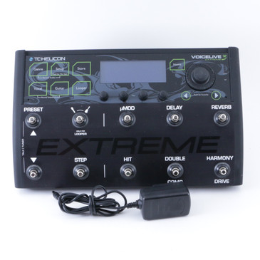 TC Helicon VoiceLive 3 Extreme Vocal Multi-Effects Pedal & Power Supply P-08326