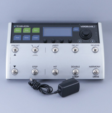 TC Helicon Voicelive 3 Multi-Effects Vocal Pedal & Power Supply P-08351