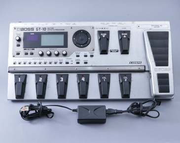 Boss GT-10 Guitar Multi-Effects Pedal & Power Supply P-08500
