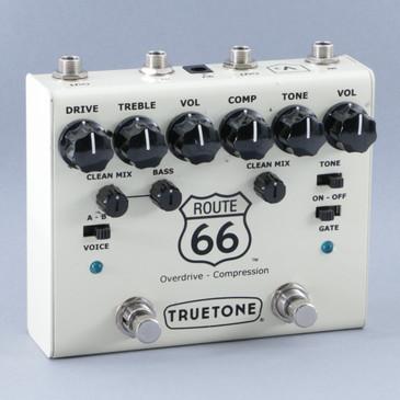 TrueTone Route 66 Compressor & Overdrive Guitar Effects Pedal P-08577