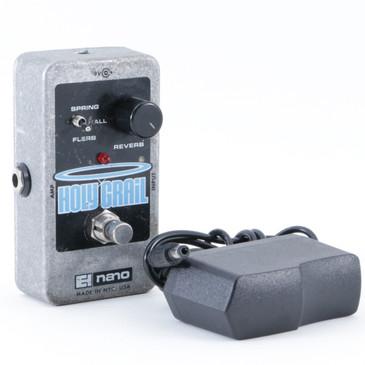 Electro-Harmonix Holy Grail Nano Reverb Guitar Effects Pedal w/ PSA P-08827