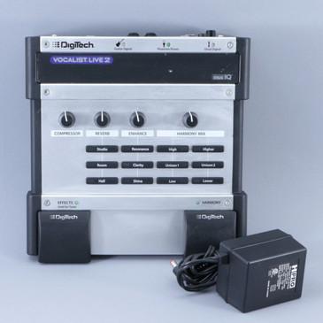 Digitech Vocalist Live 2 Vocal Multi-Effects Pedal & PSA P-08905