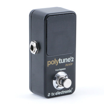 TC Electronic Polytune 2 Noir Chromatic Tuner Guitar Effects Pedal P-08893