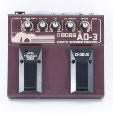 Boss AD-3 Acoustic Instrument Processor Guitar Effects Pedal P-09111