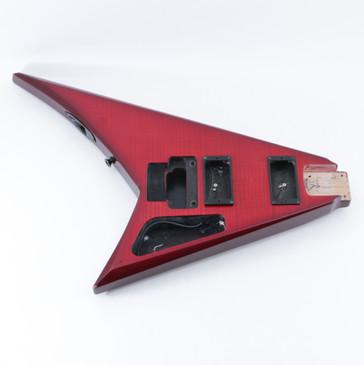 2005 Jackson Japan RR3 Transparent Red Alder Guitar Body BD-5223