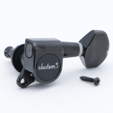 (6) Jackson Standard Right Handed Tuning Pegs Black Finish TU-4106