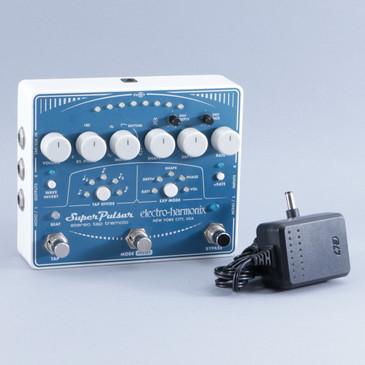 Electro-Harmonix Super Pulsar Tremolo Guitar Effects Pedal w/ PSA P-09291