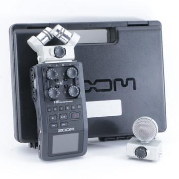 Zoom H6 Handy Recorder w/ XYH-6 & MSH-6 Mic Heads OS-8725