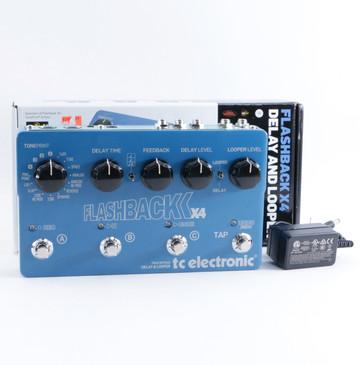TC Electronic Flashback x4 Delay Guitar Effects Pedal w/ PSA P-09374