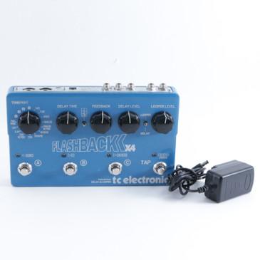 TC Electronic Flashback x4 Delay Guitar Effects Pedal w/ PSA P-09372