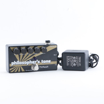 Pigtronix Philosopher's Tone Overdrive Guitar Effects Pedal w/ PSA P-09357