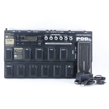 Line 6 Pod XT Live Guitar Multi-Effects Pedal & Power Supply P-09457