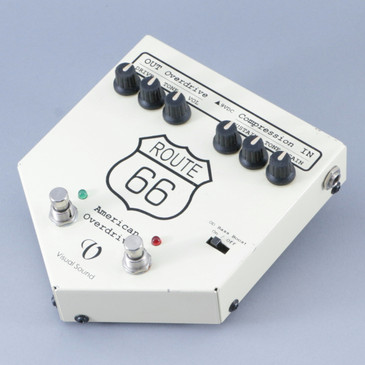 Visual Sound Route 66 Overdrive & Compressor Guitar Effects Pedal P-09447