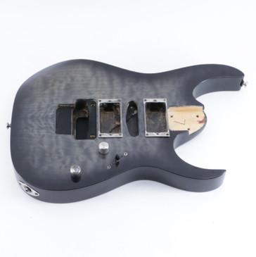 2013 Ibanez RG370QMSP Transparent Gray Burst Basswood Guitar Body BD-5257