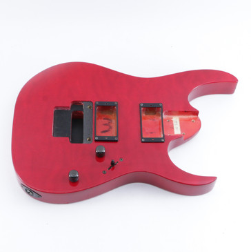 2000 Ibanez RG320QS Quilted Transparent Red Basswood Guitar Body BD-5262