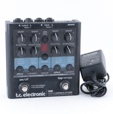 TC Electronic NM-1 Nova Modulator Guitar Multi-Effects Pedal & PSA P-10037